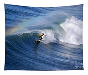 Surfing Under A Rainbow Tapestry
