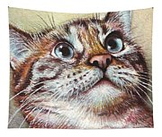 Surprised Kitty Tapestry