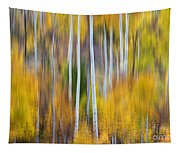 Surreal Aspen Tree Magic Abstract Art Tapestry