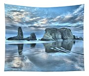 Surreal Beach Swirls Tapestry