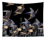 Swallows In The City Tapestry