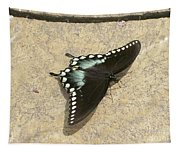 Swallowtail On The Rocks Tapestry