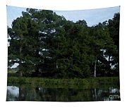 Swamp Cypress Trees Digital Oil Painting Tapestry
