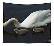 Swan And Signets Tapestry