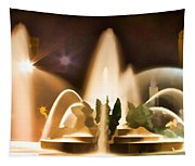 Swan Fountains Tapestry