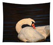 Swan Grooming Tapestry