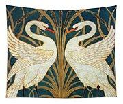 Swan Rush And Iris Tapestry