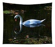 Swan Solitude Tapestry
