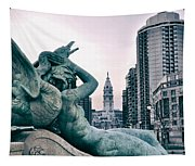 Swann Fountain Statue Tapestry