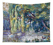 Swans Family . Forest Of Boulogne  Tapestry
