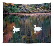 Swans At Betty Allen Tapestry