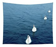 Swans On The Vltava River, Prague Tapestry