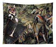 Swedish Vallhund  - Vastgotaspets Art Canvas Print Tapestry