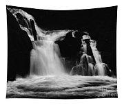 Sweet Creek Falls Oregon Monochrome Tapestry