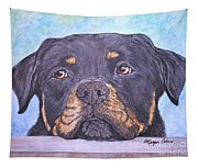 Rottweiler's Sweet Face Tapestry