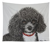 Sweet Miss Molly The Poodle Tapestry
