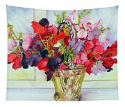 Sweet Peas In A Vase Tapestry
