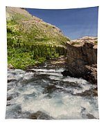 Swiftcurrent River At Many Glacier Tapestry