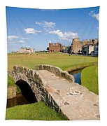 Swilcan Bridge On The 18th Hole At St Andrews Old Golf Course Scotland Tapestry