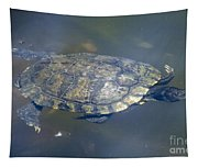 Swimming Turtle Tapestry