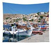Symi Island Greece Tapestry