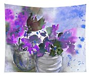 Symphony In Blue And Purple Tapestry