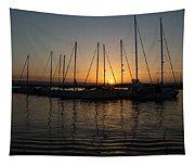 Syracuse Harbor Sunset Tapestry