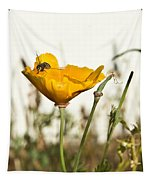 Syrphid Fly And Poppy 2 Tapestry