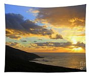 Table Mountain South Africa Sunset Tapestry