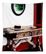 Table With Hat And Book Tapestry