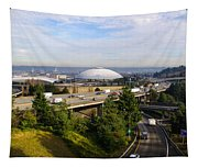 Tacoma Dome And Auto Museum Tapestry