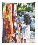 Tahitian Girl With Pareos Tapestry