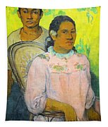 Tahitian Woman And Boy Tapestry