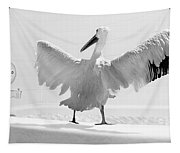 Taking The Plunge - Pelican - Bathroom Tapestry