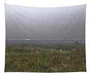 Tall Grass And View Of Bridge Tapestry