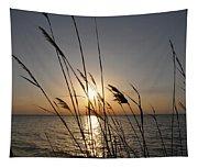Tall Grass Sunset Tapestry