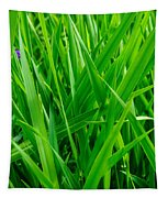 Tall Green Grass Tapestry