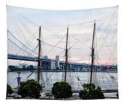 Tall Ship Gazela At Penns Landing Tapestry