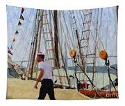 Tall Ship Sailor Duty Tapestry