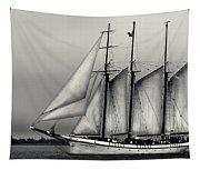 Tall Ships Sailing Boat Tapestry
