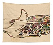 Tampa Bay Rays Vintage Logo Tapestry