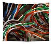 Tangle Of Colorful Wires Tapestry