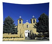 Taos Adobe Church Tapestry