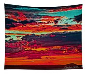 Taos Sunset Xix Tapestry