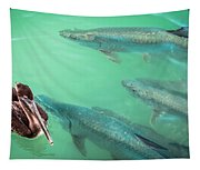 Tarpon Encounter Tapestry