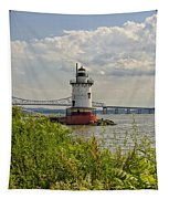 Tarrytown Lighthouse And The Tappan Zee Bridge Tapestry