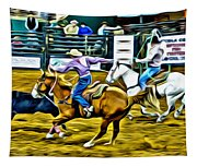 Team Ropers Tapestry