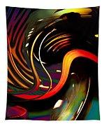 Techno  Neon Stripes Tapestry