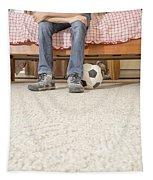 Teen Boy In Bedroom Tapestry