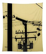 Telephone Pole And Sneakers 5 Tapestry